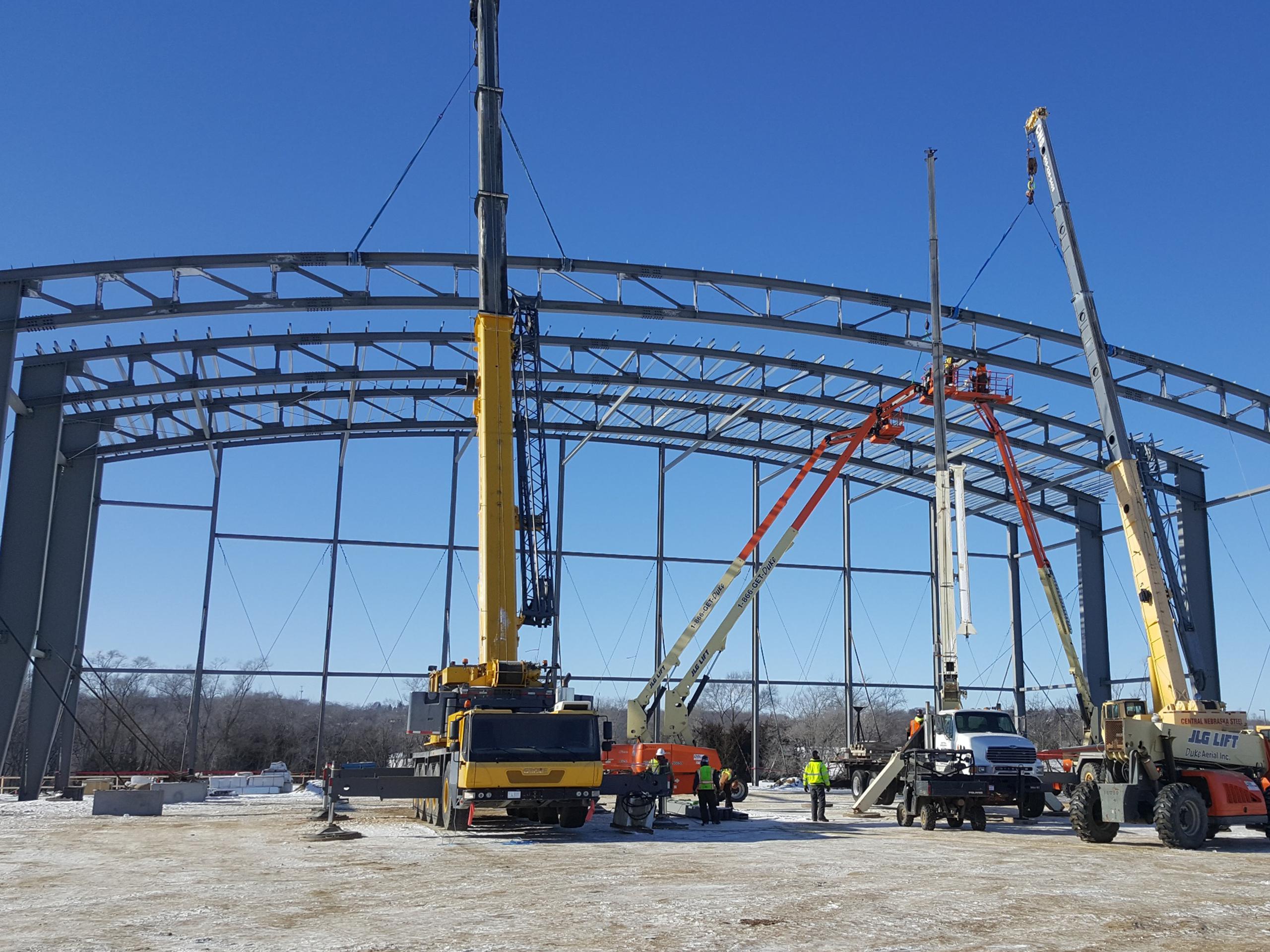 Butler Heavy Structures_IWCC_Wellness Center_Steel Erection